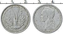 Изображение Монеты Французская Экваториальная Африка 1 франк 1948 Алюминий XF