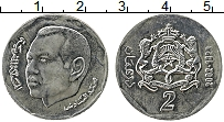 Изображение Монеты Марокко 2 дирхама 2002 Медно-никель UNC- Мухаммед VI