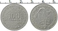 Изображение Монеты Западная Африка 100 франков 1968 Медно-никель XF