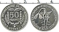 Изображение Монеты Западная Африка 50 франков 1984 Медно-никель UNC-