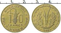 Изображение Монеты Западная Африка 10 франков 1966 Латунь XF