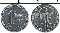 Изображение Монеты Западная Африка 1 франк 1977 Медно-никель UNC-