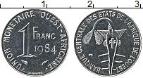 Изображение Монеты Западная Африка 1 франк 1984 Медно-никель UNC-