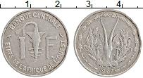 Изображение Монеты Западная Африка 1 франк 1967 Алюминий XF