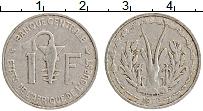Изображение Монеты Западная Африка 1 франк 1972 Алюминий XF