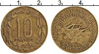 Изображение Монеты Камерун 10 франков 1958 Латунь XF-