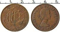 Изображение Монеты Великобритания 1/2 пенни 1966 Бронза XF Елизавета II.