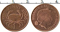 Изображение Монеты Гернси 1 пенни 2006 Бронза XF Елизавета II