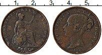 Изображение Монеты Великобритания 1 фартинг 1854 Медь VF Виктория