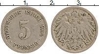 Изображение Монеты Германия 5 пфеннигов 1902 Медно-никель XF D