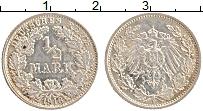 Изображение Монеты Германия 1/2 марки 1916 Серебро XF F