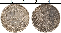 Изображение Монеты Германия 1 марка 1911 Серебро XF