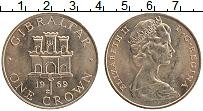 Изображение Монеты Гибралтар 1 крона 1969 Медно-никель UNC- Елизавета II. Замок