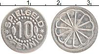 Изображение Монеты ФРГ 10 пфеннигов 0 Алюминий XF Токен. Игровой жетон