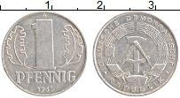 Изображение Монеты ГДР 1 пфенниг 1968 Алюминий XF