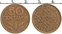 Изображение Монеты Португалия 50 сентаво 1975 Бронза XF