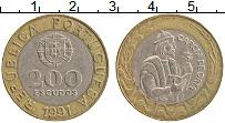 Изображение Монеты Португалия 200 эскудо 1991 Биметалл XF