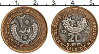 Изображение Монеты Мавритания 20 угия 2009 Биметалл XF