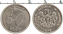 Изображение Монеты Нигерия 5 кобо 1973 Медно-никель UNC-