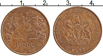 Изображение Монеты Нигерия 1/2 кобо 1973 Бронза XF