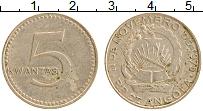 Изображение Монеты Ангола 5 кванза 1975 Медно-никель XF