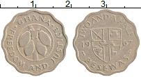 Изображение Монеты Гана 2 1/2 песева 1967 Медно-никель XF