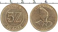Изображение Монеты Заир 5 заир 1987 Латунь XF