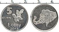 Продать Монеты Элобей 5 экуле 2013 Медно-никель