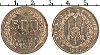 Изображение Монеты Джибути 500 франков 1991 Бронза UNC-
