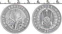 Изображение Монеты Джибути 5 франков 1991 Алюминий UNC-