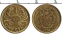 Изображение Монеты Сейшелы 1 цент 2004 Латунь XF