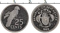 Изображение Монеты Сейшелы 25 центов 1993 Медно-никель XF