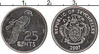 Изображение Монеты Сейшелы 25 центов 2007 Медно-никель XF