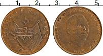 Изображение Монеты Руанда 5 франков 1965 Бронза XF