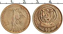 Изображение Монеты Руанда 10 франков 2003 Латунь XF