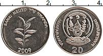 Изображение Монеты Руанда 20 франков 2009 Медно-никель UNC-