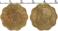 Изображение Монеты Танзания 10 сенти 1977 Латунь XF Раис ва Кванза