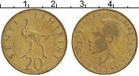 Изображение Монеты Танзания 20 сенти 1966 Латунь XF Раис ва Кванза