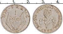 Изображение Монеты Руанда 1 франк 1985 Алюминий VF