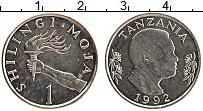 Изображение Монеты Танзания 1 шиллинг 1992 Медно-никель UNC-