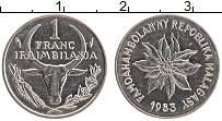 Изображение Монеты Мадагаскар 1 франк 1983 Медно-никель UNC-