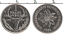 Изображение Монеты Мадагаскар 1 франк 1986 Медно-никель UNC-