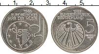 Изображение Монеты ФРГ 5 марок 1985 Медно-никель UNC- Год Европейской музы