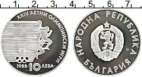 Изображение Монеты Болгария 10 лев 1988 Серебро Proof- Олимпийские игры 88.