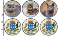 Изображение Наборы монет Испания 20 фунтов 2020 Медно-никель UNC Канарские острова. U