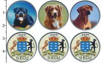 Изображение Наборы монет Испания 1 1/2 экю 2020 Медно-никель UNC Канарские острова. U