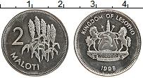 Изображение Монеты Лесото 2 малоти 1998 Медно-никель UNC-