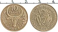 Изображение Монеты Мадагаскар 10 франков 1972 Латунь XF