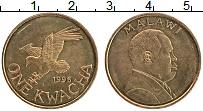 Изображение Монеты Малави 1 квача 1996 Латунь XF