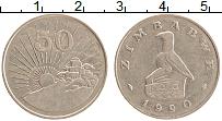 Изображение Монеты Зимбабве 50 центов 1990 Медно-никель XF